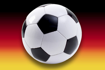 Fussball vor der deutschen Flagge, Composing
