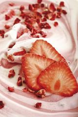 Erdbeer-Sahne, Nahaufnahme