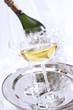 Champagner, Flaschen und Gläser