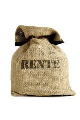 Leinensack, Symbolbild für Pensionsverpflichtungen