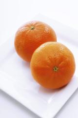 Frische Mandarinen, Nahaufnahme