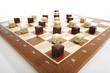 Dominosteine auf Schachbrett