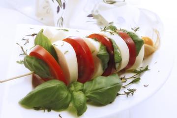 Tomate Mozzarella Sticks, Nahaufnahme