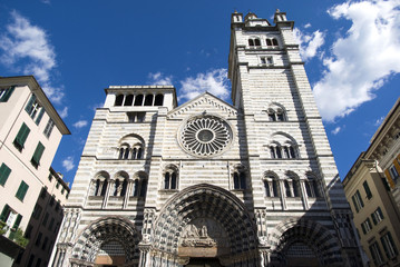 Cathedral of Saint Lawrence in Genoa, Italy