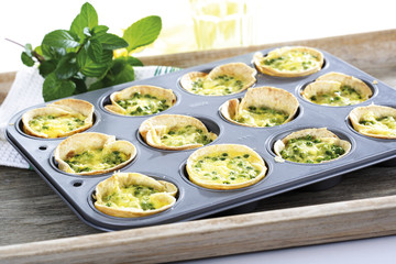 Erbsen-Quiche in Backform