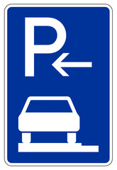 Parken ganz auf Gehwegen in Fahrtrichtung links (Anfang)