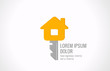 Logo Real estate vector design. House key Realty creative idea