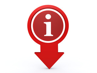 information arrow icon on white background