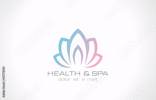 Logo Lotus flower abstract vector design. Health, SPA, Medicine