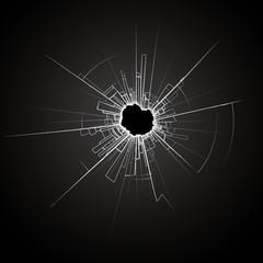 Black Broken Glass