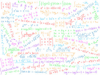 MATHEMATICS Background (science math maths x equations symbols)