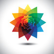abstract colorful fantasy flower in rainbow colors- vector graph