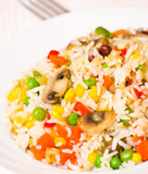 rice with mushrooms and vegetables