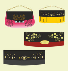 Beautiful fashionable stylish small handbags