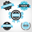 Premium Quality Vector Badges Blue