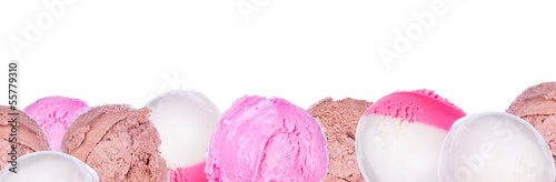 Poster soft serve ice cream isolated