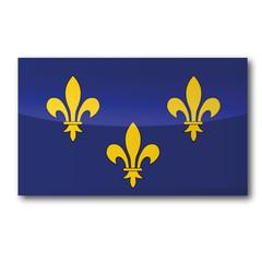 Flagge Île-de-France