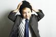 fashionable little boy in tie.style kid. fashion children