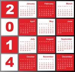 Annual calendar design for 2014