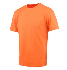 Orange T-shirt on a white background