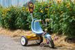 Leinwandbild Motiv kid tricycle