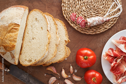 Bread with cold meat