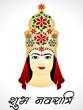 Navratri Card Design With Devi G
