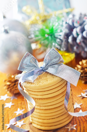 cookies and christmas decoration