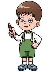 Vector illustration of Genius Boy vector