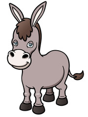 Vector illustration of Cartoon burro