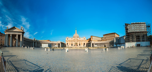 Roma, view of Piazza San Pietro and cathedral at Vatican