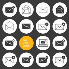 Vector Ecommerce Business Shopping and Other Icons for Email