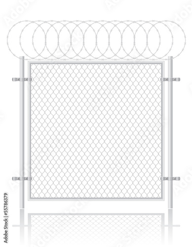 fence made ​​of wire mesh vector illustration