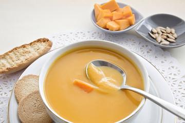 Pumpkin squash soup.