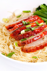 roasted duck with yellow noodle