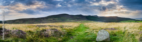 Simonside ridge panorama