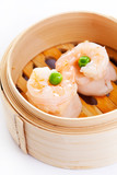Shrimp Dim Sum in Bamboo Steamed Bow