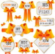 Autumn sale vector labels