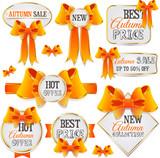 Autumn sale vector labels