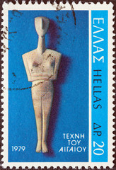 Cycladic Figure from Amorgos island (Greece1979)