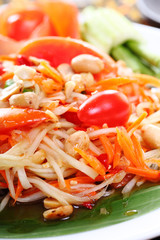 Thai papaya spicy salad, Som Tum Thai