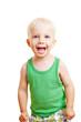 Glückliches blondes Kind lacht