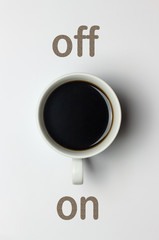 Kaffeepause Schalter Konzept