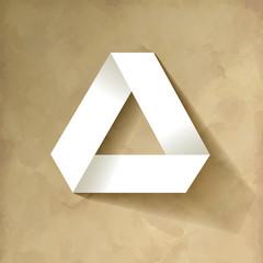 Papier Dreieck Origami Vintage