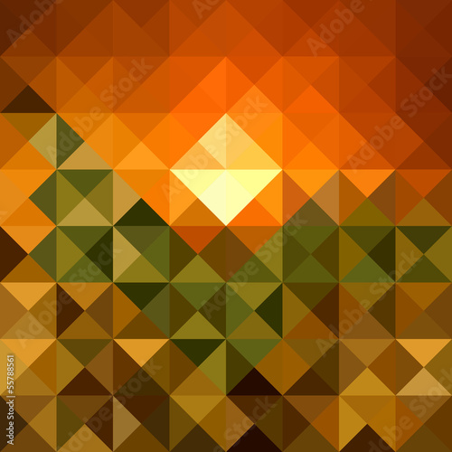 Foto op Plexiglas ZigZag Autumn season triangle seamless pattern background. EPS10 file.