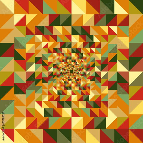 In de dag ZigZag Vintage autumn triangles seamless pattern background. EPS10 file
