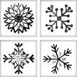 Grunge snowflake