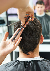 Hairdressing at beauty parlour