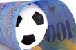 schweizerfranken mit fussball