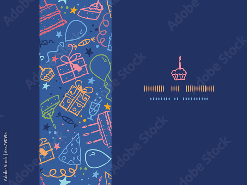 Vector birthday horizontal seamless pattern background with hand - 55790915